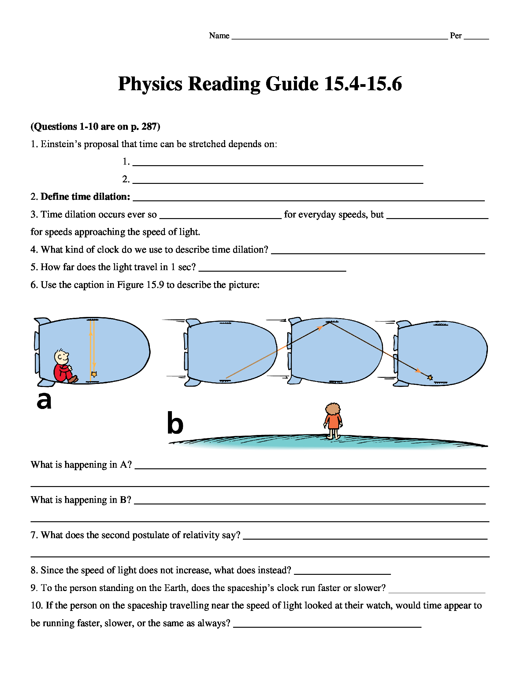 Conceptual Physics (2009) Reading Guide Worksheet Chapter 15.4-15.6 -  Conceptual Science Lessons.Com