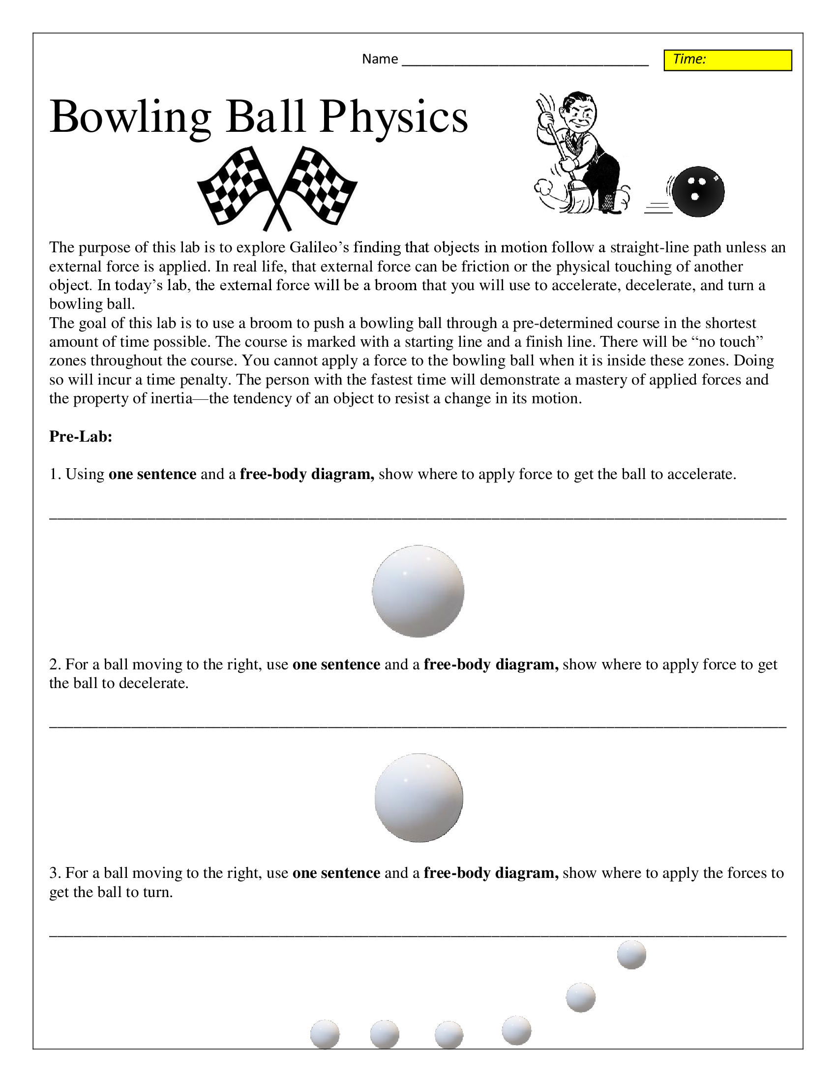 Bowling Worksheets Worksheet On Freebody Diagrams Ball Inertia And Motion Lab Conceptual Science 1700x2200