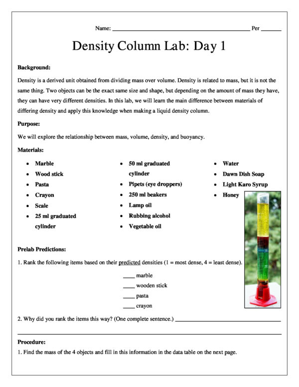 Liquid density column chemistry lab conceptual science lessons ibookread Download